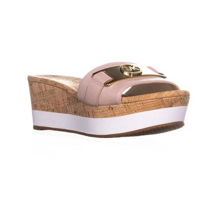 Womens MICHAEL Michael Kors Warren Platform Slide Sandals, Soft Pink, 8 US / 38
