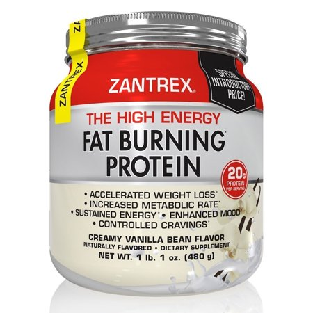 Zantrex The High Energy Creamy Vanilla Bean Fat Burning Protein, 15.6