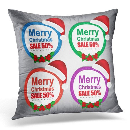 ARHOME Throw Pillow Case Cushion Cover Celebration Christmas Sale Tag Best Box Buy Clearance Pillow Cover 20x20 (Best Electronics Sales After Christmas)