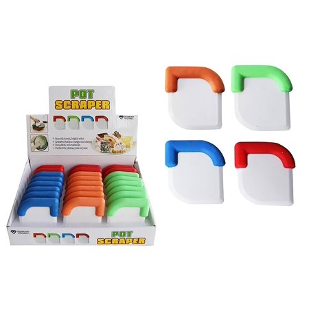 Diamond Visions 11-1453 Plastic Pot Scraper MultiPack Set in Assorted Colors (3 Pot Scrapers)
