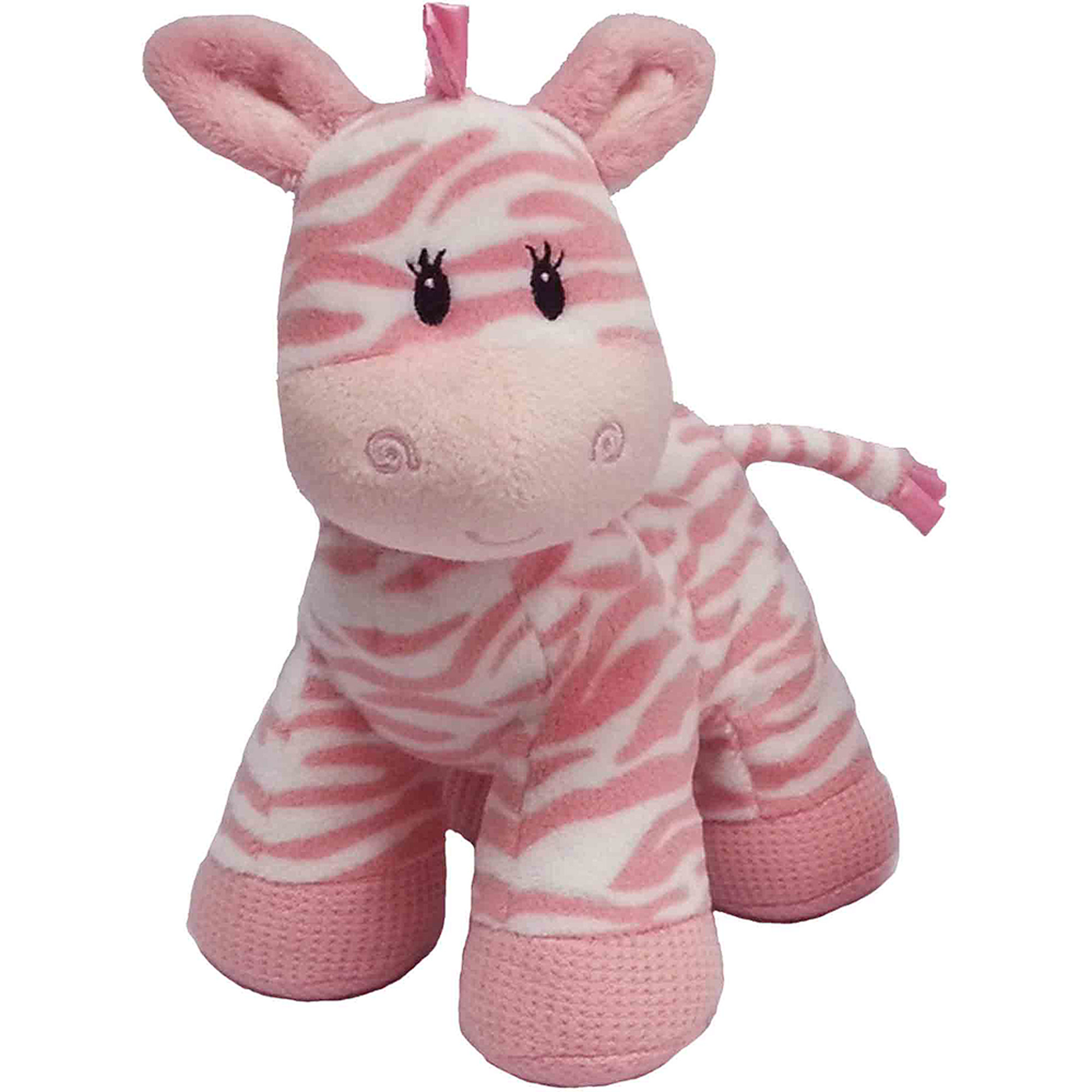 "First and Main Zippy Zebra 8"" Plush, Pink"