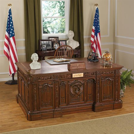 Design Toscano Oval Office Presidents Resolute Desk