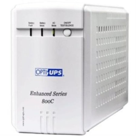Opti Ups 129936 Opti-ups Ups Es800c Usb Automatic Voltage Regulator Avr 8outlets 800va 480w 110/120v 50/60hz 4ms White Retail ()