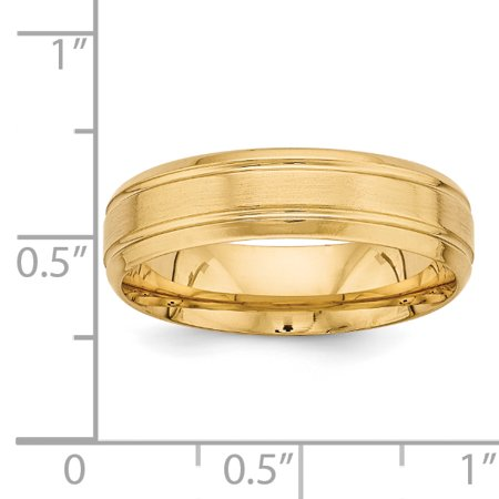 14K Yellow Gold Standard Comfort Fit Fancy Band - image 1 de 3