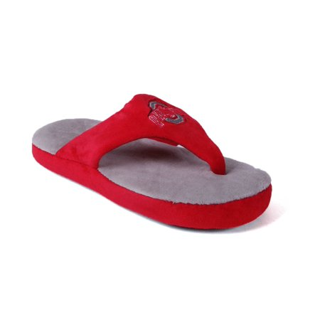 Happy Feet Mens and Womens Ohio State Buckeyes NCAA Comfy Flop (Devils Comfy Feet)