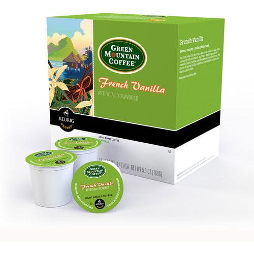 Green Mountain Coffee French Vanilla Light Roast K-Cups Coffee, 18 count