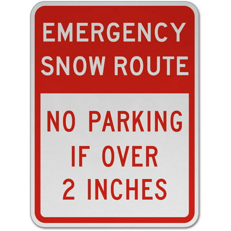 Traffic Signs - No Parking If Over 2 Inches Sign 12 x 8 Aluminum Sign Street Weather Approved Sign 0.04 Thickness 0.04