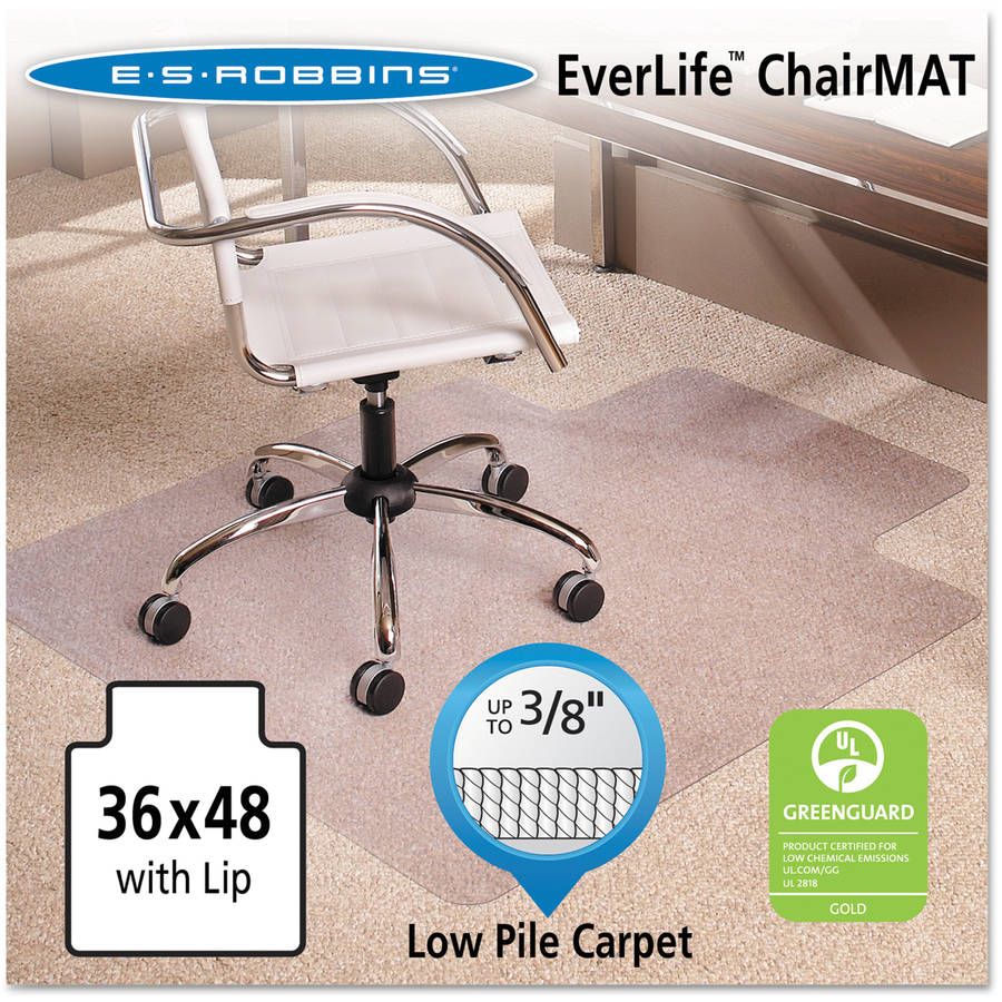 ES Robbins AnchorBar Multi-Task Intermediate Chair Mat for Carpet, Available in Multiple Sizes