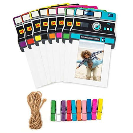 Kodak Vintage Photo Frames – Colorful 2x3 Frames Includes Classic Camera Frames, Magnetic Clothespins & String 8 Pack (Printomatic, Mini Shot, Mini2)