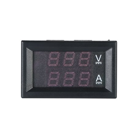 - LED DC0~100V 10A Digital Voltmeter Ammeter Red/Blue Dual Color Display Voltage and Ampere Meter Volt Amp Gauge Panel