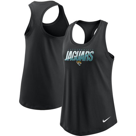 Jacksonville Jaguars Nike Women's Light Impact Performance Racerback Tank Top - Black