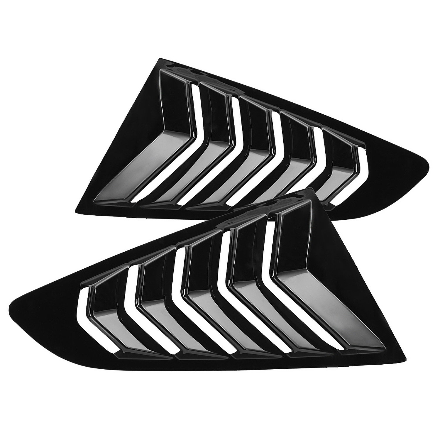 Spec-D Tuning Abs Black Quarter 1/4 Side Window Louver Cover for ...