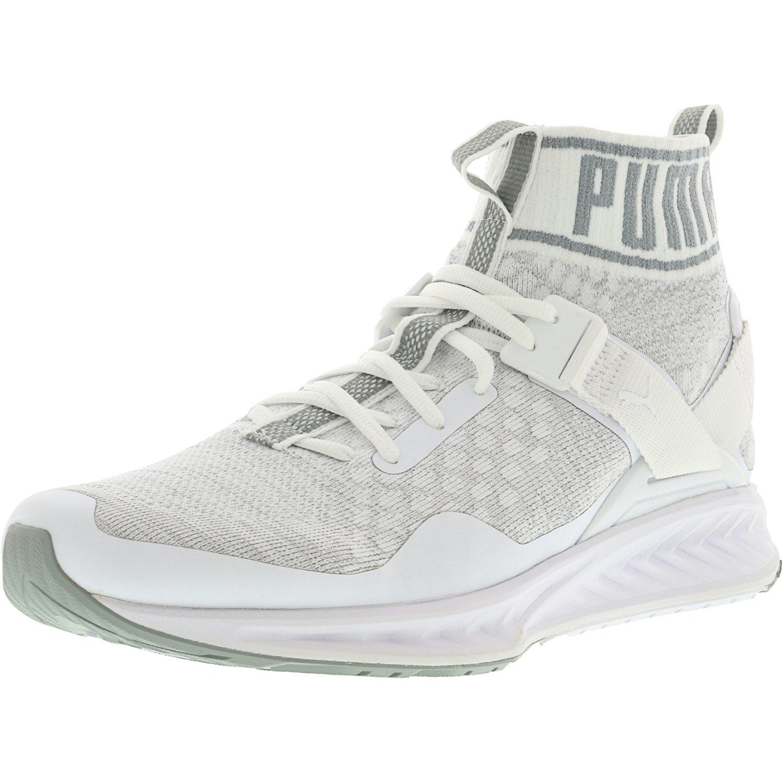 Puma Men's Ignite Evoknit White / Quarry Vaporous Grey An...