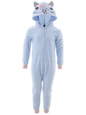 Saint Eve Girls Cat Blue Hooded Blanket Sleeper