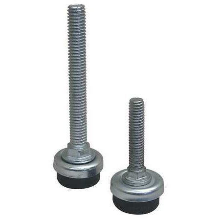 "S & W SW-5T19 Furniture Glides,Screw-In,Rd,1-1/8"",PK4"