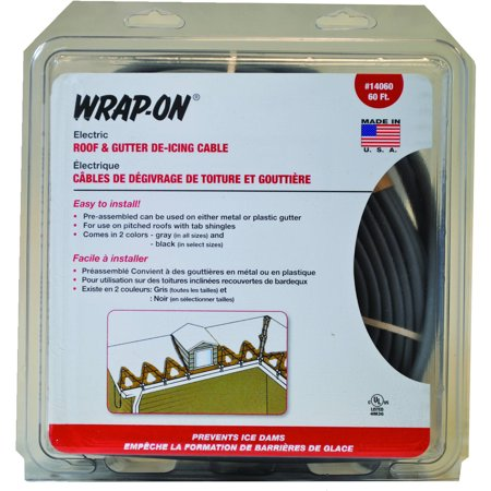 Wrap On Company Inc Roof Gutter Cable Gray