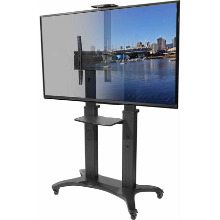 Kanto MTMA80PL Mobile TV Mount with Shelf for 55″-80″ Displays