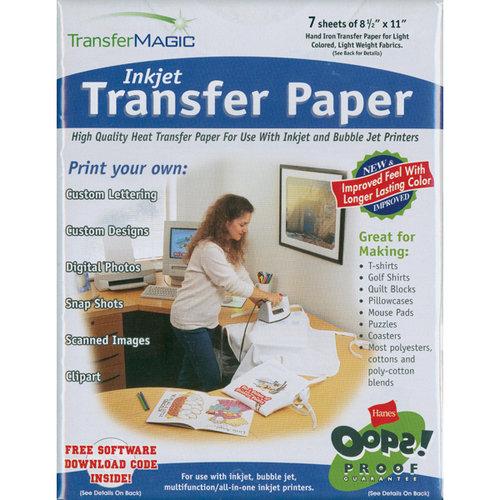 Transfer Magic 651480 Ink Jet Transfer Paper-8-1/2-inch X 11-inch 7-Pack