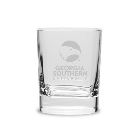 Georgia Southern Eagles 11 75 Oz  Deep Etched Double Old Fashion Glass