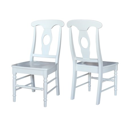 Enjoyable International Concepts Empire Dining Chair In Linen White Set Of 2 Machost Co Dining Chair Design Ideas Machostcouk