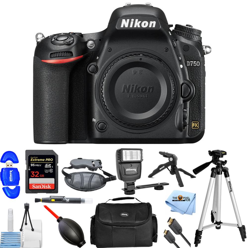 Nikon D750 DSLR Camera (Body Only, Black)!! PRO BUNDLE BRAND NEW!!