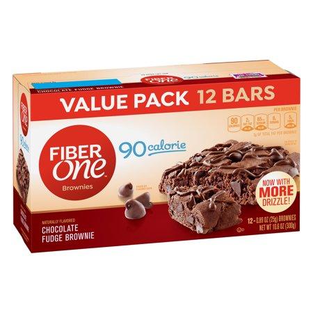 Fiber One Brownies  90 Calorie Bar  Chocolate Fudge Brownie  12 Fiber Bars  10 6 Oz  Value Pack