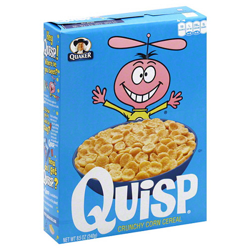 Quisp Crunchy Corn Cereal, 8.5 oz, (Pack of 12)