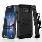 For Samsung Galaxy S8 Active 3-in-1 Kinetic Hybrid Screen Protector Case Holster