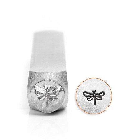 ImpressArt Metal Punch Stamp, Dragonfly Design 6mm (1/4 Inch), 1 Piece, Steel ()