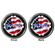 Card Guard - MAGA ~ KAP TRUMP - Funny Protector Holdem Poker Chip / Card Cover - Black