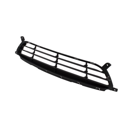 BROCK Front Bumper Lower Center Grille Textured Black Molding Replacement for 12-14 Hyundai Accent 865611R000 HY1036116