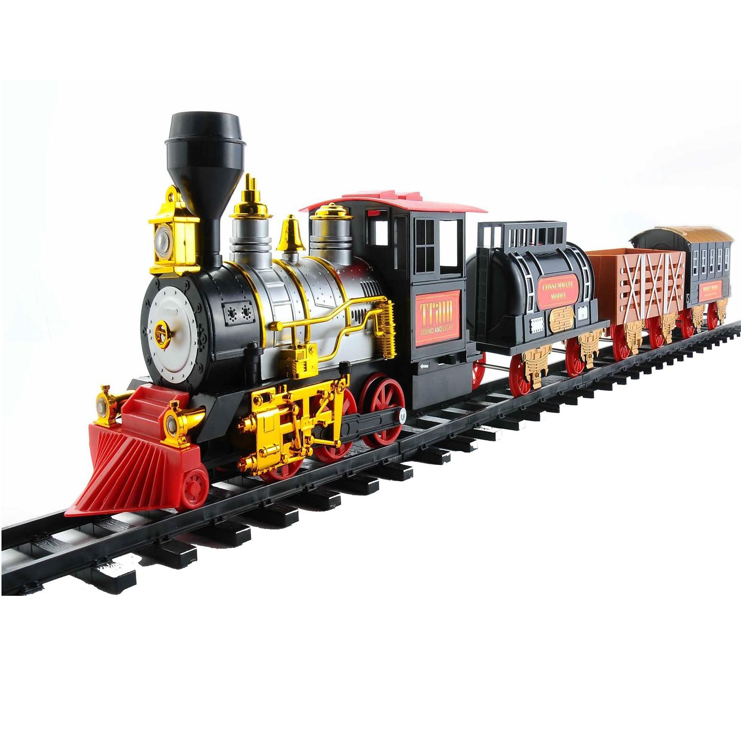 20-Piece Battery Operated Lighted and Animated Classics Train Set with Sound - image 2 de 2
