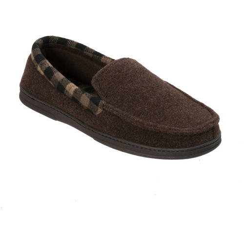 b5957339dcf DF by Dearfoams Men s Felt Moccasin Slipper – Walmart Inventory ...