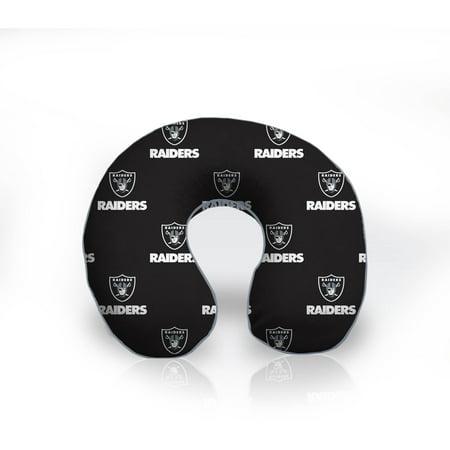 NFL Licensed Memory Foam U-Neck Travel Pillow, Oakland Raiders by