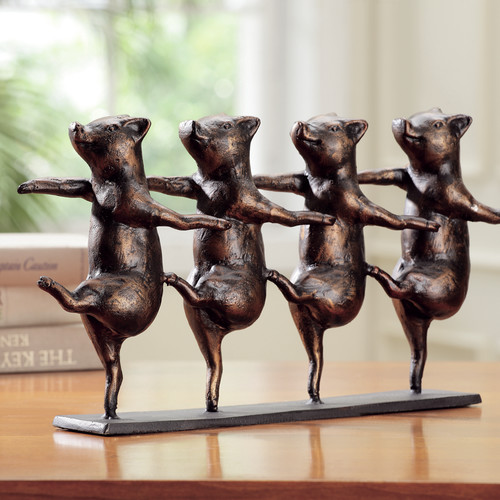 SPI Home Dancing Pigs on Parade Figurine