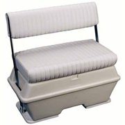 Moeller Deluxe Swingback Cooler/Live Well Seat 76Qt - White - 37''L X 20-1/2''H