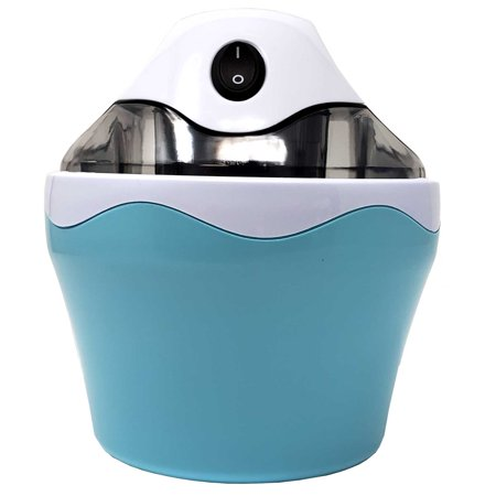 BPA Free Electric Mini Ice Cream Maker 120 V,16 oz (1 Pint) Capacity With Anti Skid Bottom, Easy To Use - For Quick Home Made Ice cream, Frozen Yogurt Dessert Sorbet,Cool Blue