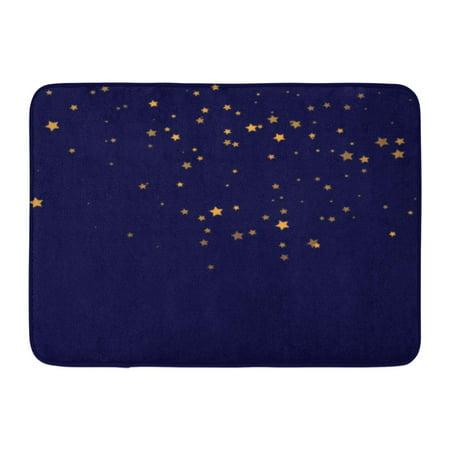 GODPOK Star Falling Gold Yellow Starry Confetti Starlight Night Astral Golden Starlit Fall Chaotic Modern Rug Doormat Bath Mat 23.6x15.7 inch](Gold Door)
