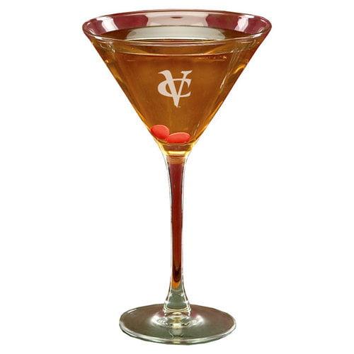 NCAA - VCU Rams 10 oz Deep Etched Martini Glass