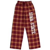 Iowa State Cyclones Youth Plaid Flannel Pants - Cardinal