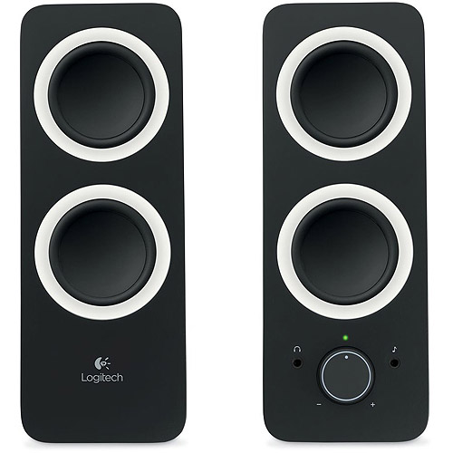 Logitech z200 Multimedia 2.0 Speakers, Black