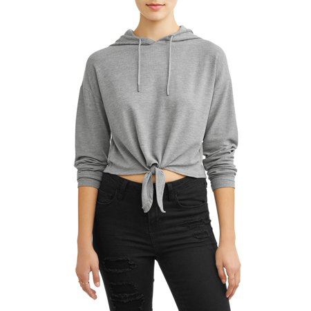 Second Layer Thermal Pullover (Poof! Juniors' Thermal Light Weight Tie Front Pullover)