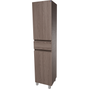 Floor Standing/ Wall Mounted Storage Tall Bathroom Cabinet, 1 Drawer and 2 Doors (Estepa)