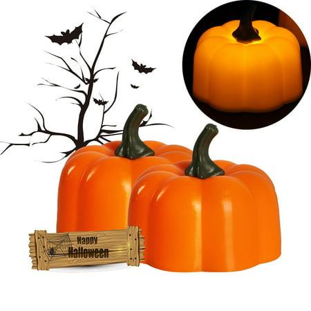 Party Decoration Pumpkin Lamp 2PCS Halloween Nightlight LED Pumpkin Lamp