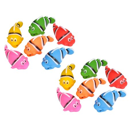Rubber Fish (Rhode Island Novelty - Rubber Bath Toys - CLOWN FISHES (1)