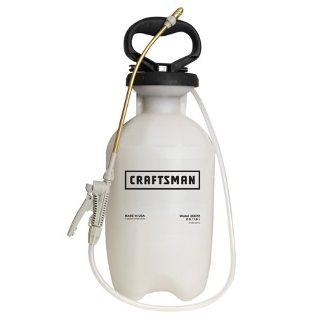 - Craftsman Handheld 2 Gallon Tank Garden Sprayer with Adjustable Tip + Nozzles