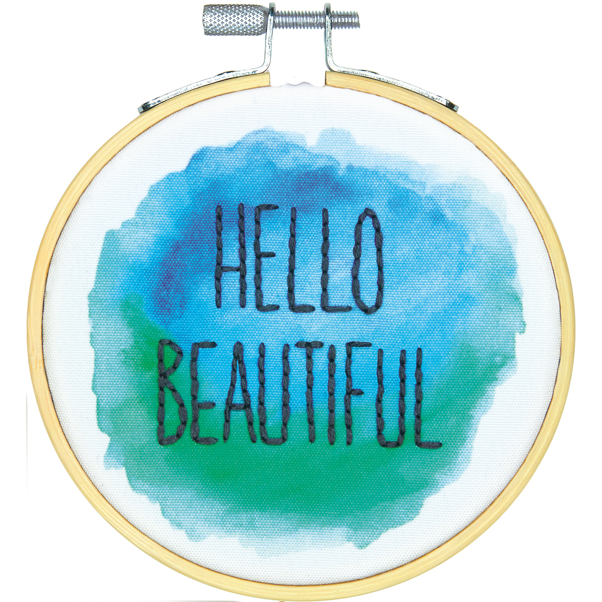 """Dimensions Mini Embroidery Kit 4""""-Hello Beautiful-Stitched In Thread"""