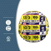 Southwire 28828228 100' 12/2 with ground Romex brand SIMpull residential indoor electricial wire type NM-B Yellow