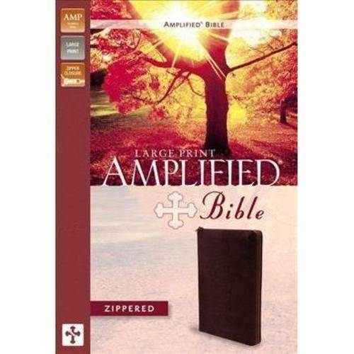 The Amplified Bible: Containing the Amplified Old Testament and the Amplified New Testament, Burgundy Bonded Leather, Zipper Closure