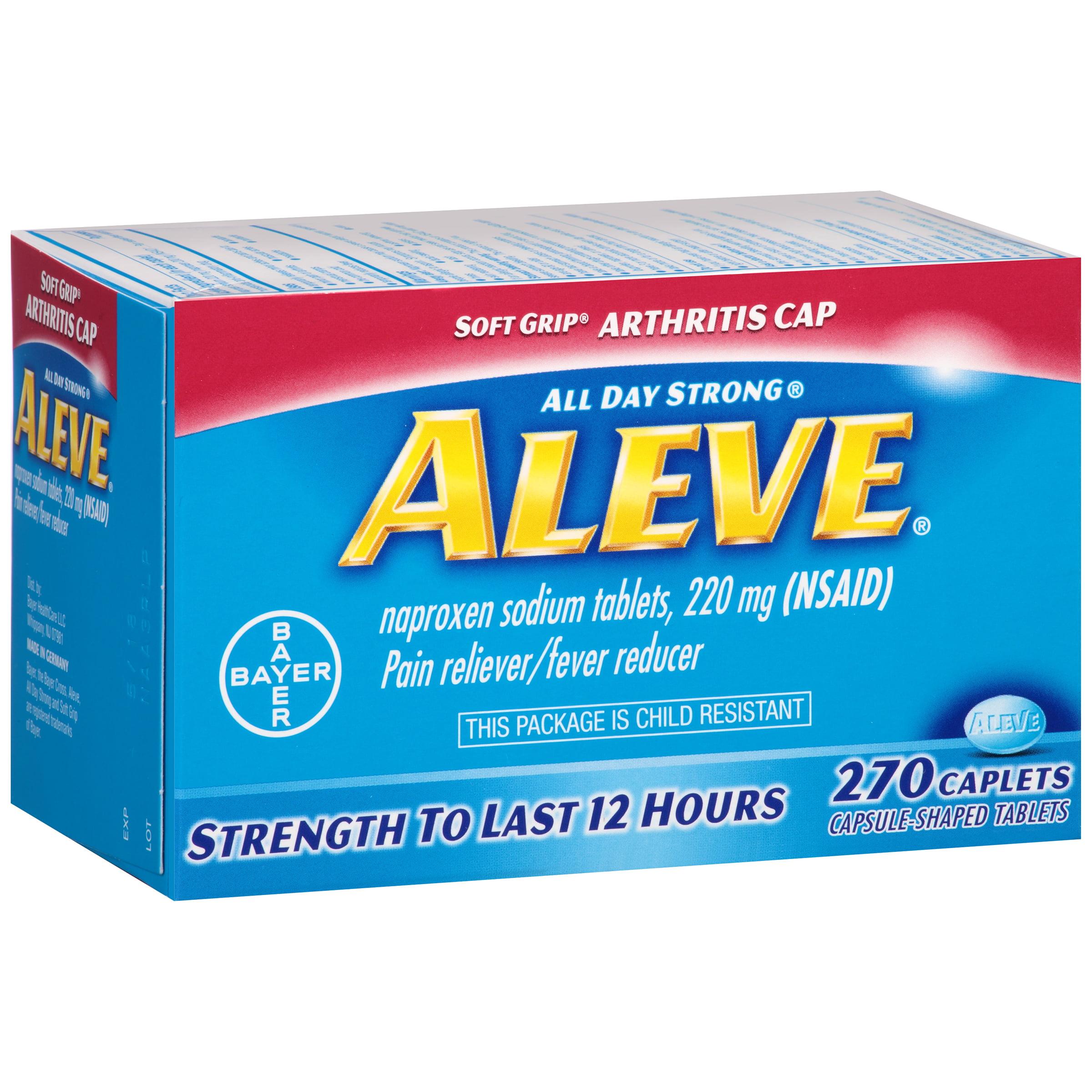 aleve soft grip arthritis cap pain reliever/fever reducer naproxen